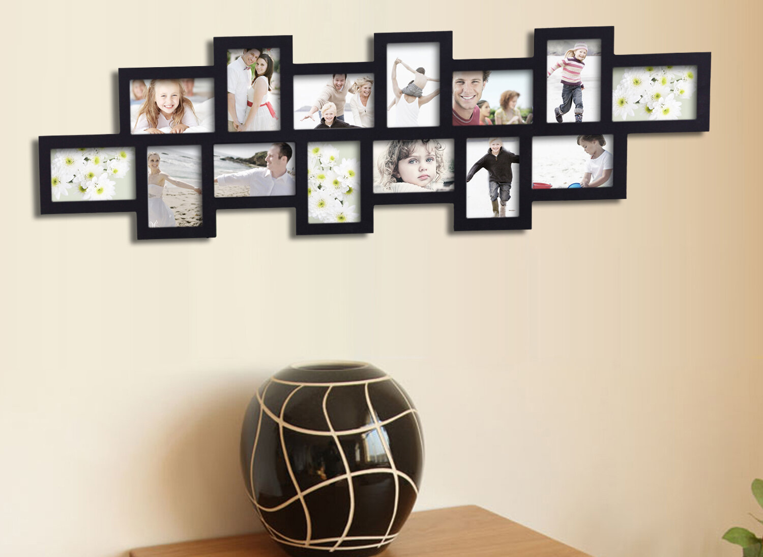 Adecotrading 14 Opening Decorative Wall Hanging Collage Picture Frame Reviews Wayfair