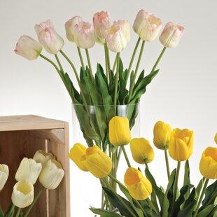 Silk flowers long stem wayfair faux botanicals long stem tulips set of 12 mightylinksfo