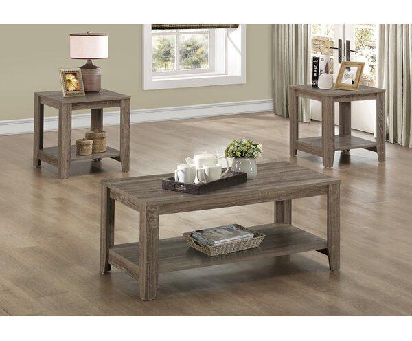 table sets living room.  Loon Peak Jalen 3 Piece Coffee Table Set Reviews Wayfair