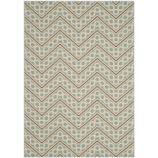 Hampton Blue/Beige Indoor/Outdoor Area Rug