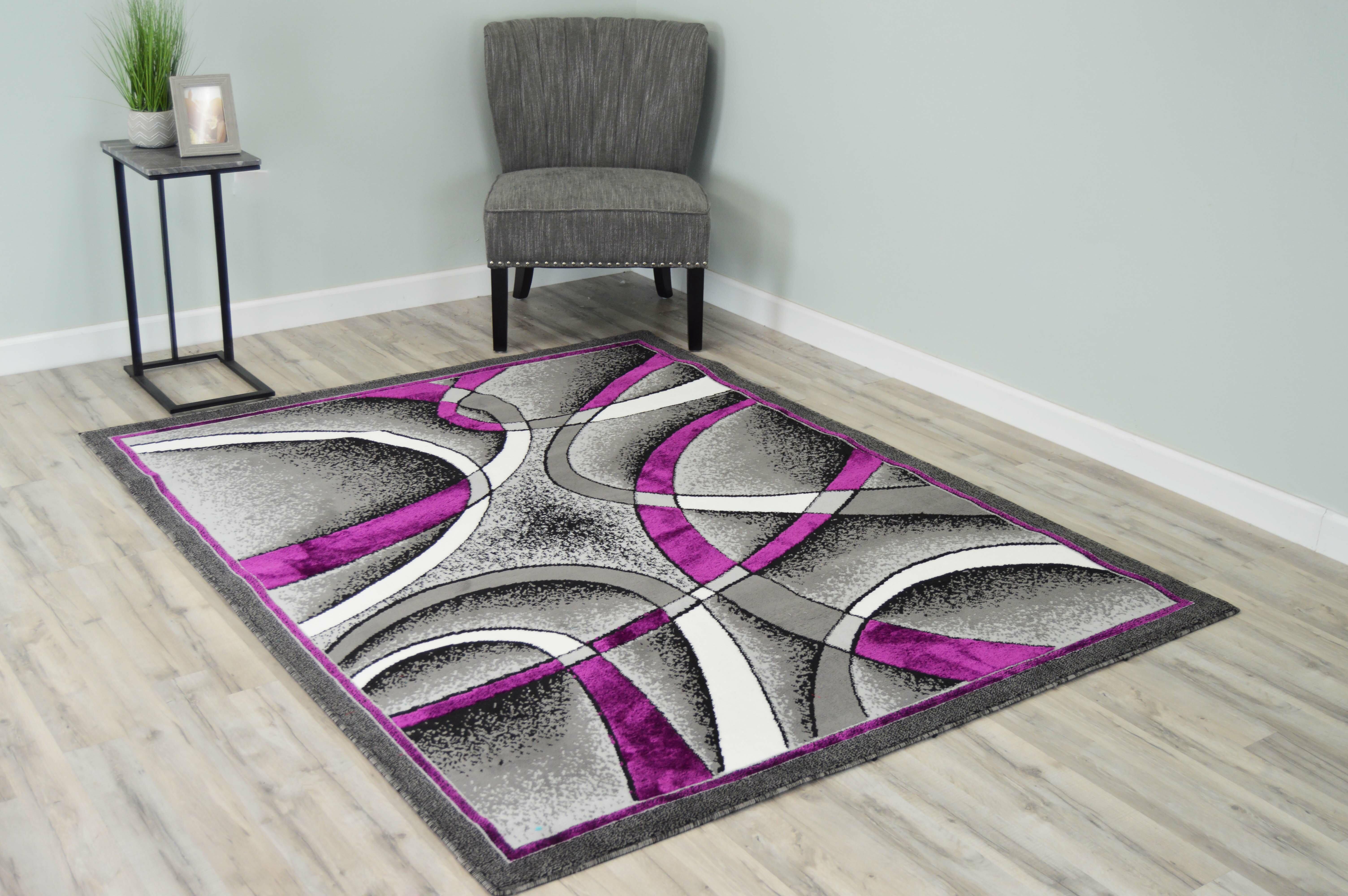 Orren Ellis Whinney Abstract Purple Area Rug Reviews Wayfair