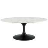 Tallulah Pedestal Coffee Table by Everly Quinn