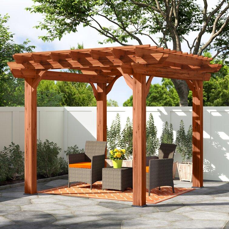 Cedar Solid Wood Pergola