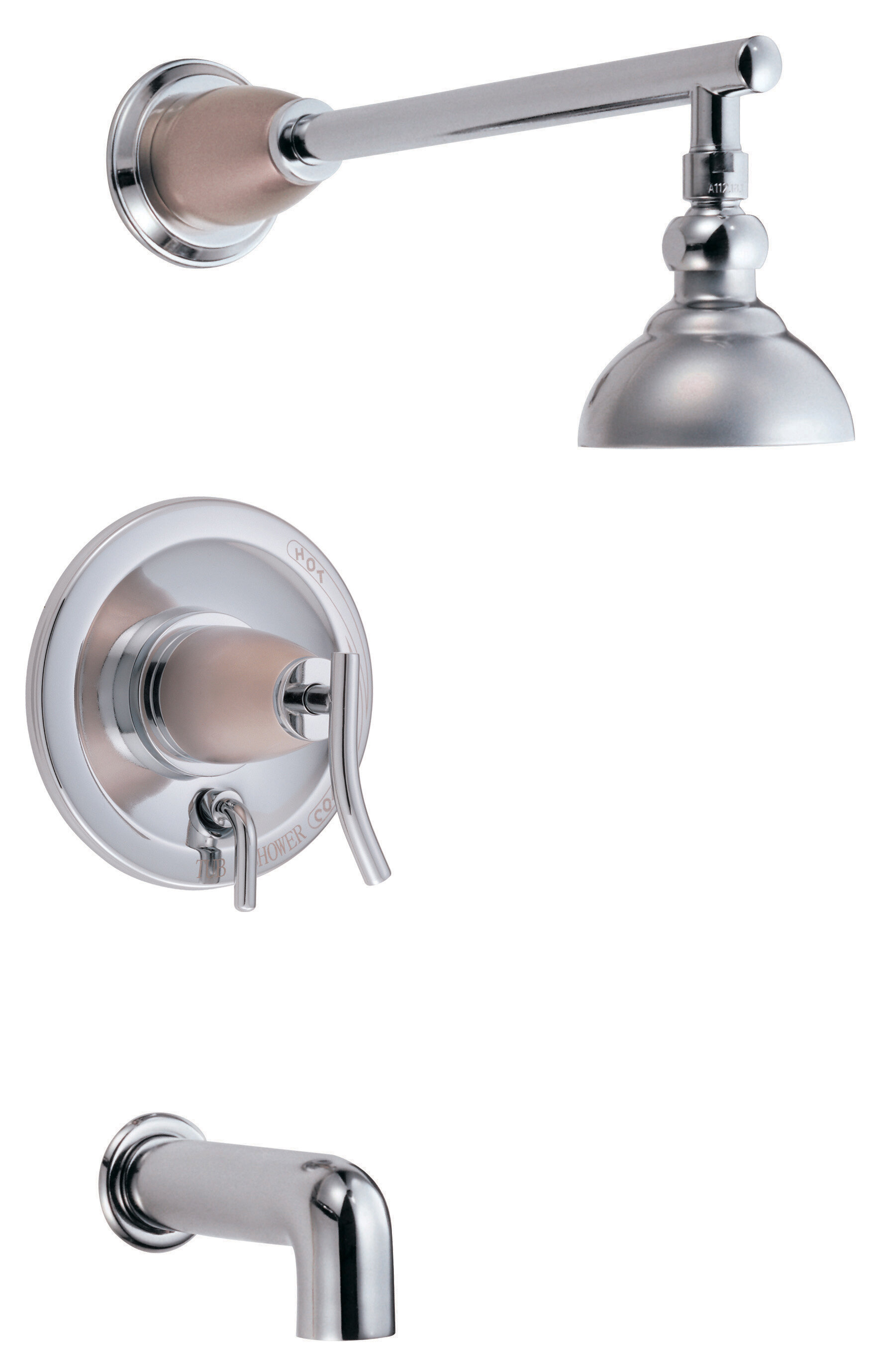 Danze Sonora Pressure Balance Diverter Tub and Shower Faucet Trim ...