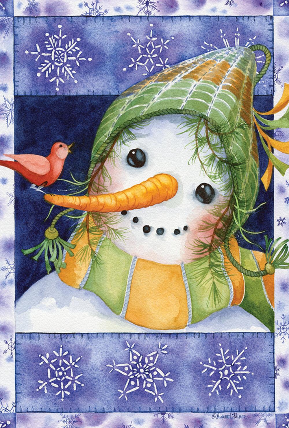 Toland Home Garden Snow Kid 28 X 40 Inch House Flag Wayfair