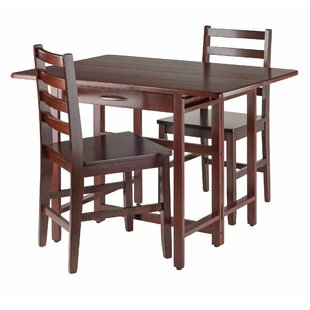 Culley 3 Piece Drop Leaf Dining Set by Red Barrel Studio Coolt