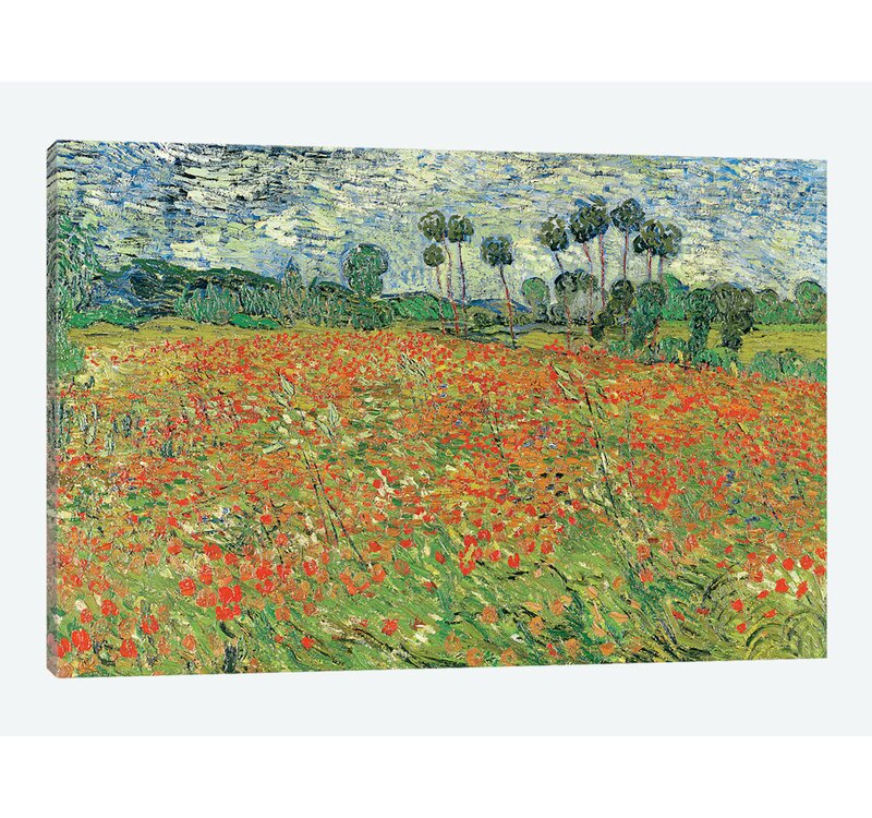 "Vincent Van Gogh /""Field of Poppies/"" Print Fine Art on Canvas canvas art furniture"
