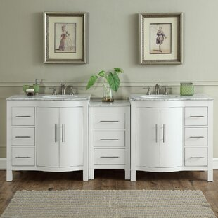 Bissette 89 Double Bathroom Vanity Set by Andover Mills
