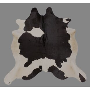 Great choice Crawfordsland Hand-Woven Cowhide Black/White Area Rug By Foundry Select