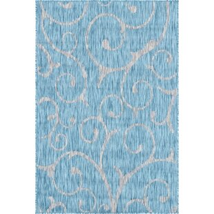 Couto Blue/Beige Indoor/Outdoor Area Rug