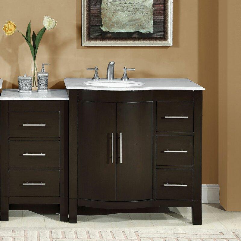 "Modular Bathroom Cabinets silkroad exclusive 53.5"" single sink lavatory cabinet modular"