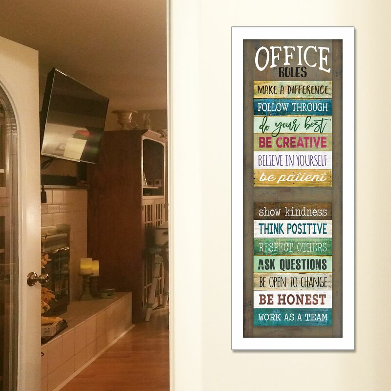 Office Rules Framed Textual Art
