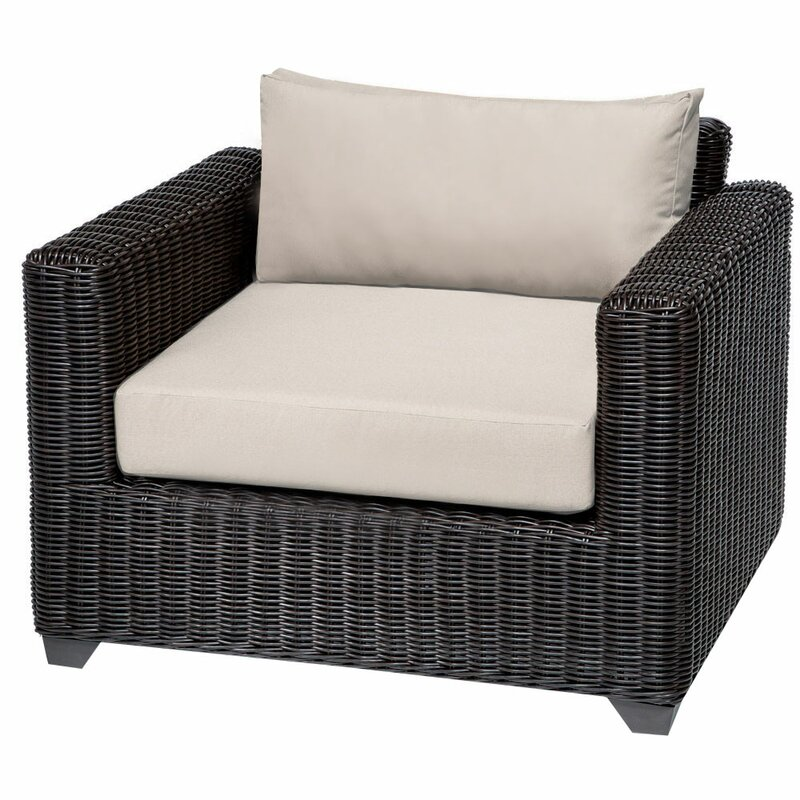 Sol 72 Outdoor  Fairfield Patio Chair with Cushions Cushion Color: Beige