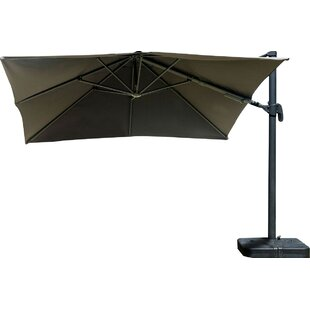 Gemmenne 10' X 10' Square Cantilever Umbrella by Beachcrest Home Sale