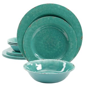 Charlotte 12 Piece Melamine Dinnerware Set, Service for 4