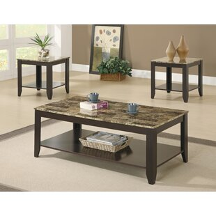 3 Piece Coffee Table Set by Monarch Specialties Inc. Reviews