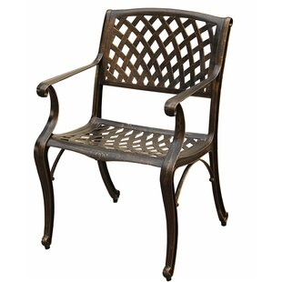 Casanova Mesh Lattice Patio Dining Chair