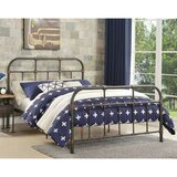 Bueno Pipe Detailed Metal Full Platform Bed by Williston Forge