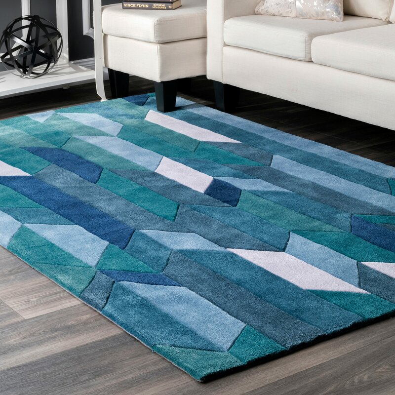 Corrigan Studio Lilyanna Blue Area Rug