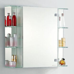 Compare 31.5 W x 27.5 H Surface Mount Medicine Cabinet By Fab Glass and Mirror