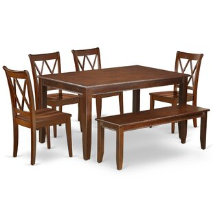 Kurth 6 Piece Solid Wood Dining Set