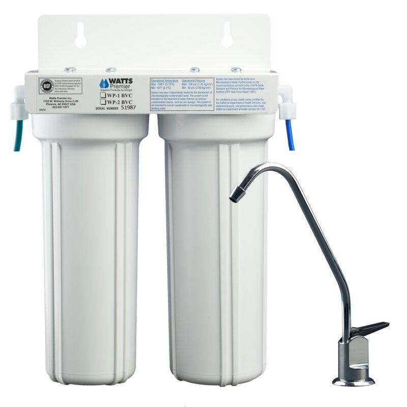 Watts Premier 2-Stage Under-sink Filtration System & Reviews | Wayfair