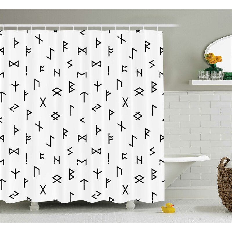 Geometric Single Shower Curtain Hooks Allmodern