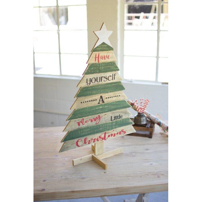 Wooden Christmas Tree.Wooden Christmas Tree With Saying