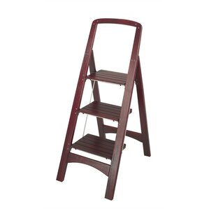 rockford 3step wood step stool with 225 lb load capacity - Step Stool With Handle