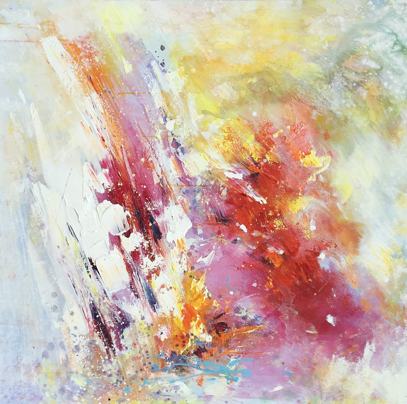 Abstract Colors Oil Painting Print On Wred Canvas Joss Main