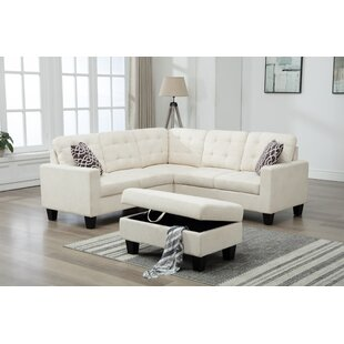 Butcher Sectional Sofa With Ottoman