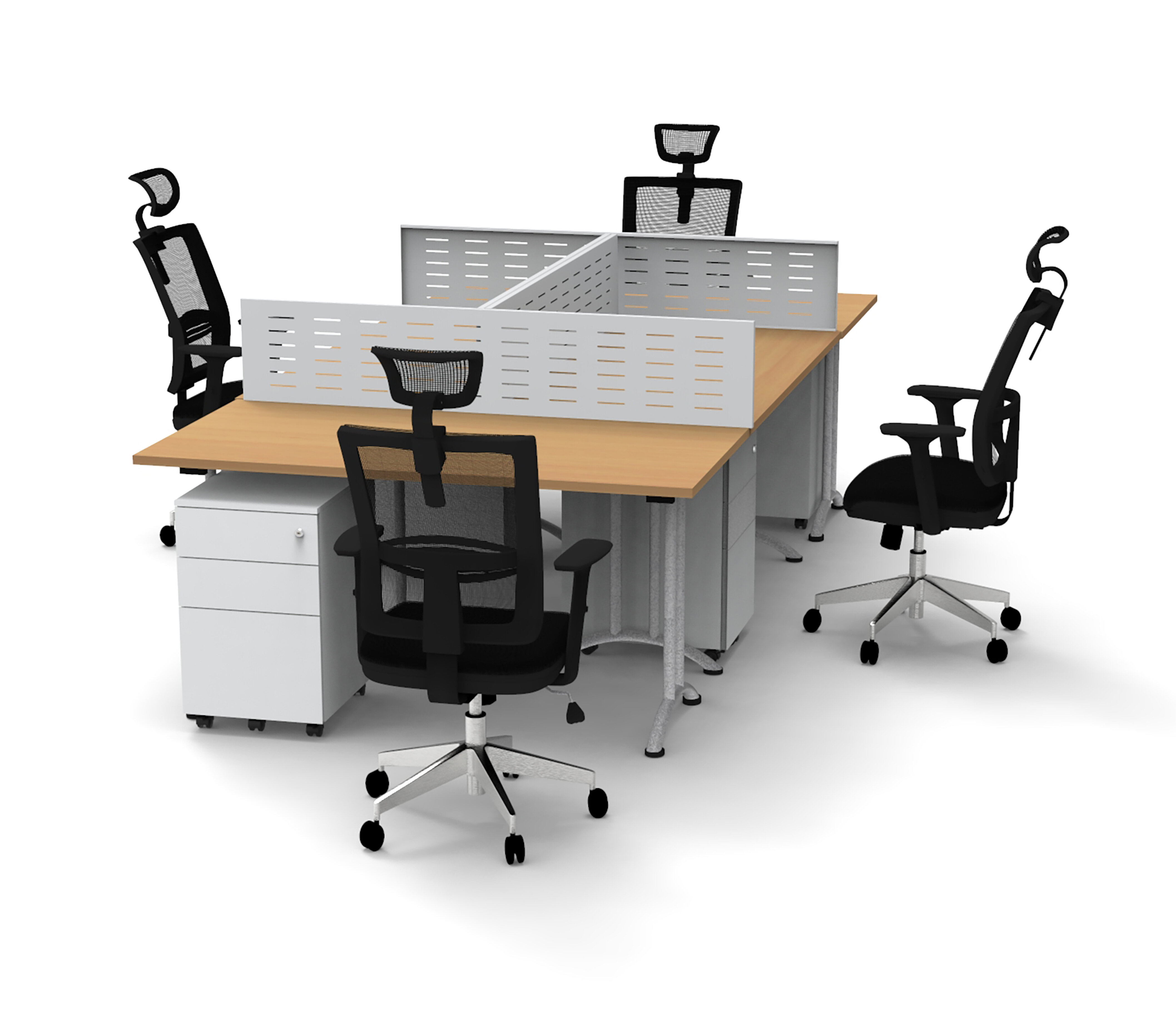 Inbox Zero Work Station Compact Space Maximum Collaboration Rectangular Meeting Table And Chair Set Wayfair