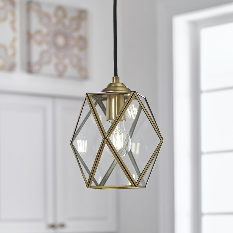 Wrought Studio Kumar 1 Light Single Geometric Pendant Reviews Wayfair