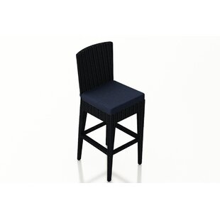 Azariah Patio Bar Stool with Cushion