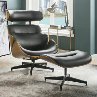 Lela Swivel Lounge Chair with Ottoman