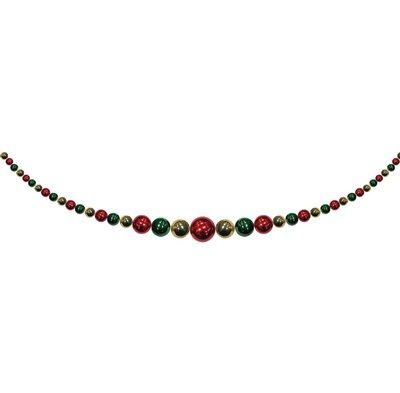 Christmas By Krebs Hanging Garland Colour: Sonic Red/Gilded Gold/Blarney
