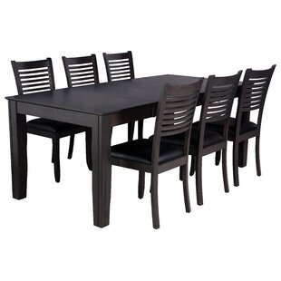 Charlotte 7 Piece Solid Wood Dining Set by TTP Furnish