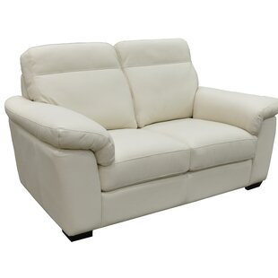 Capri Genuine Leather Loveseat