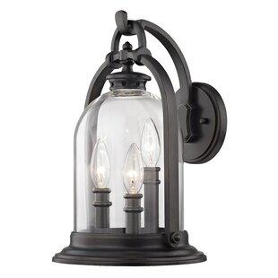 Reyna 3-Light Outdoor Wall Lantern