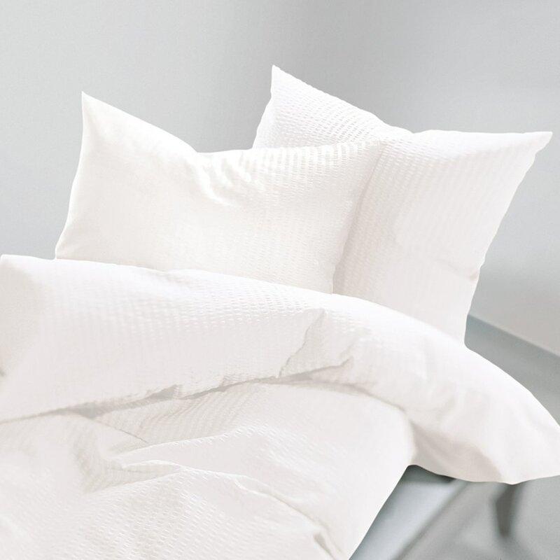 Schlafgut Seersucker Bettwäsche Uni Soft Bewertungen Wayfairde