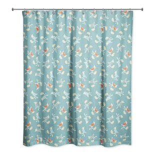 Happel Bird Single Shower Curtain