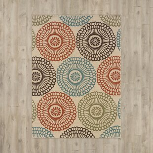 Online Reviews Douane Orange/Brown Area Rug By Bungalow Rose