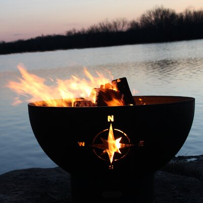 Navigator Steel Propane Fire Pit Fire Pit Art Ignition: Match Lit, Fuel Type: Natural Gas