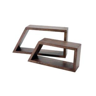 Affordable Wood Geometric Shape Wall Shelf (Set of 2) ByFloor 9