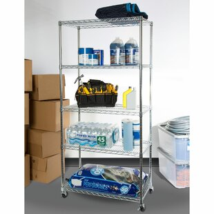 NSF 5-Tier Steel Wire Shelving with Wheels