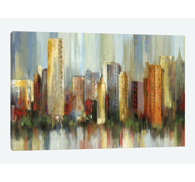 East Urban Home Metropolis Print On Canvas Wayfair