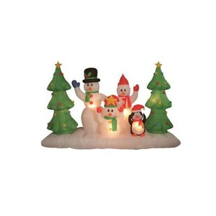 christmas inflatable snowmen family decoration