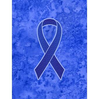 Caroline S Treasures Ribbon For Colon Cancer Awareness 2 Sided Polyester 40 X 28 In House Flag Wayfair