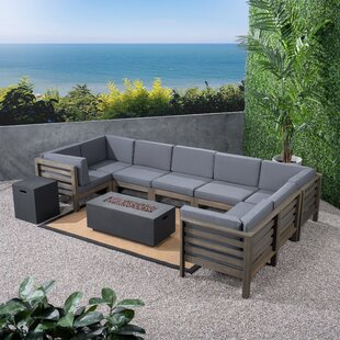 Galindo Outdoor 10 Piece Sectional Seating Group with Cushions
