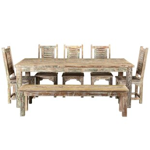 Desirae Hills 7 Piece Solid Wood Dining Set Bloomsbury Market